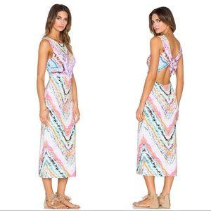 Mara Hoffman Tie Back Dress in Rainbow Roll